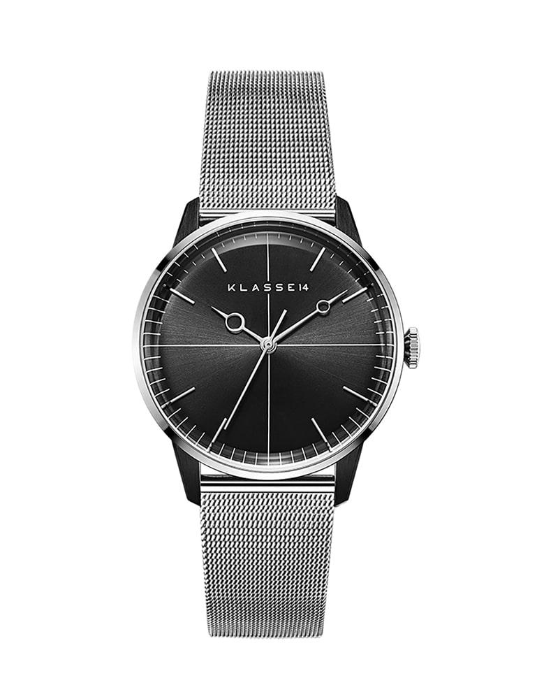 DISCO VOLANTE SILVER BLACK MESH 40mm