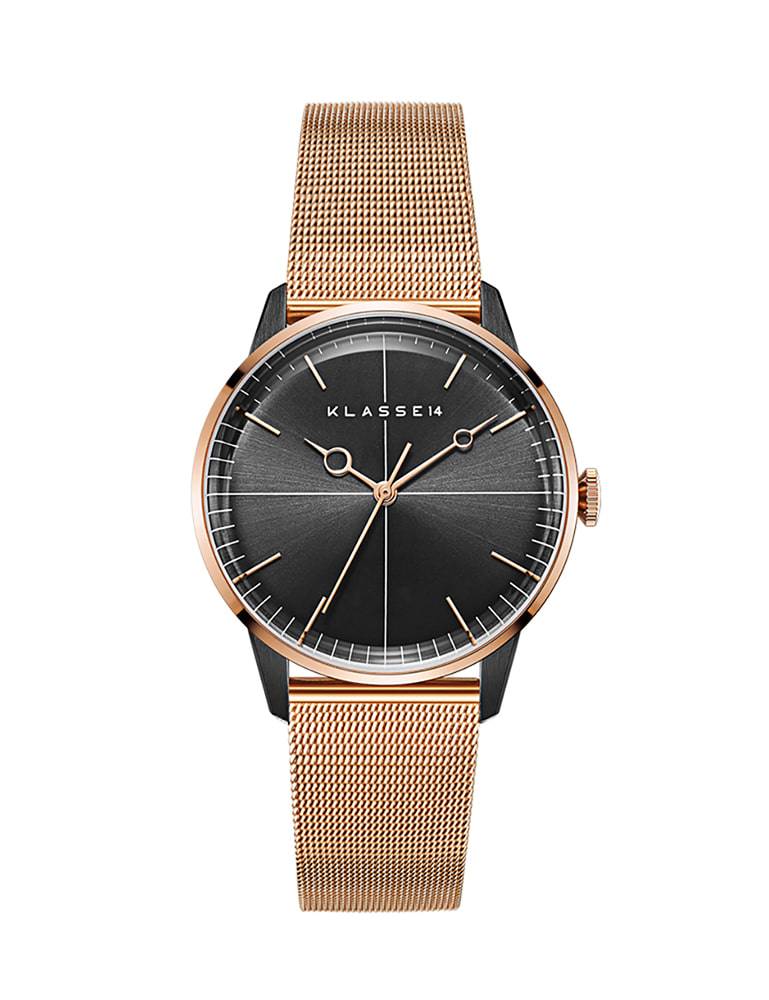 DISCO VOLANTE ROSE GOLD BLACK MESH 40mm