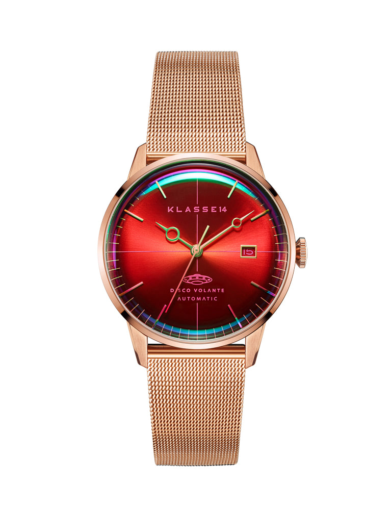 DISCO VOLANTE STARDUST ROSE GOLD MESH 40mm