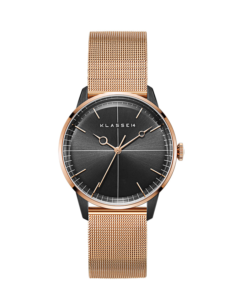 [정건주 착용] DISCO VOLANTE ROSE GOLD BLACK MESH 40mm